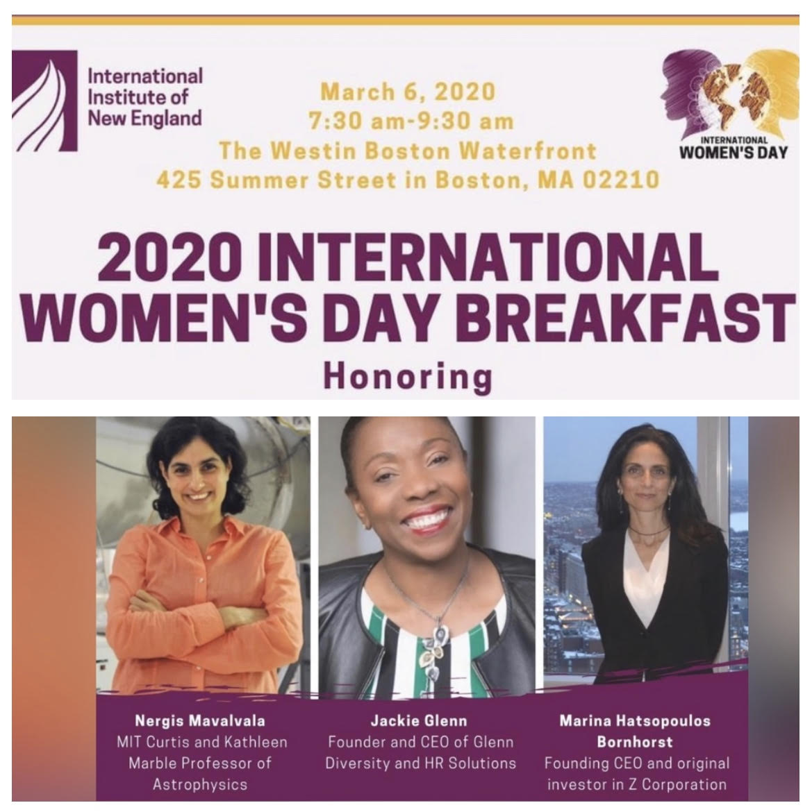 March 2020 Events Womens History Month